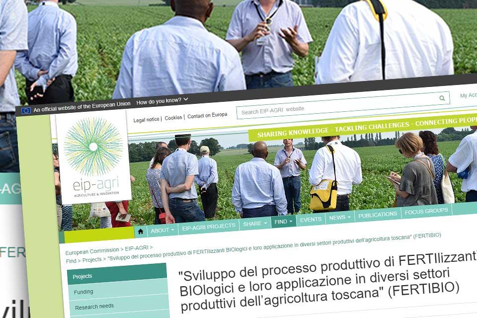 """Fertibio sul sito del partenariato europeo per l'innovazione """"Produttività e sostenibilità dell'agricoltura"""""""